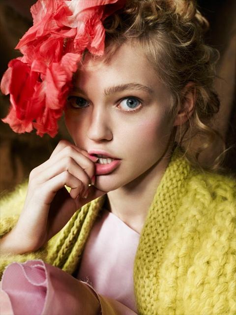 Sasha Pivovarova photographed by Mario Testino