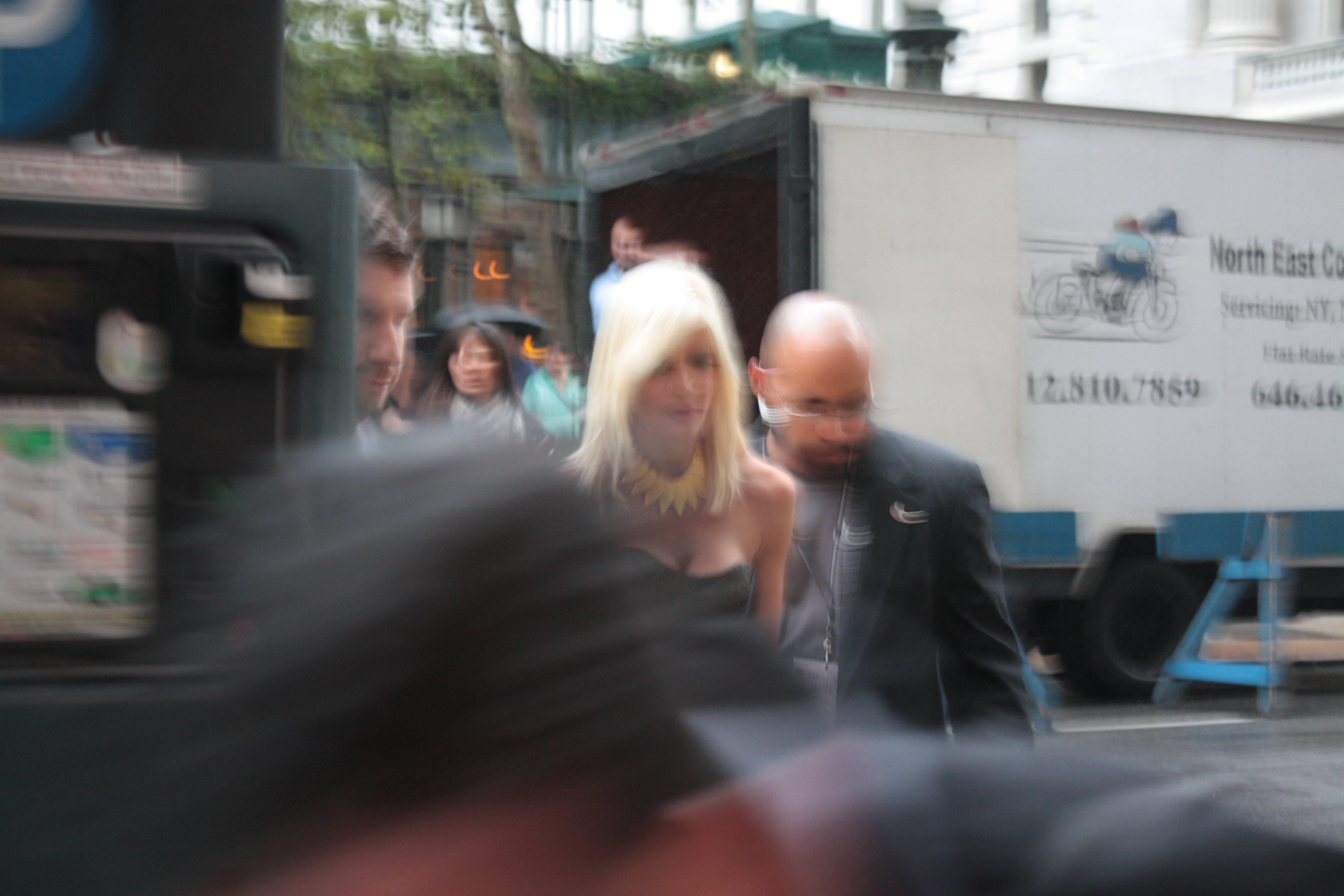 Tori Spelling During New york Fashion Week. Photo Credit: Social Vixen
