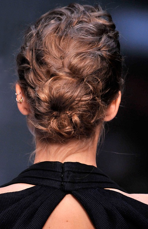 Textured chignon hairstyle at Karl Lagerfeld Spring 2010