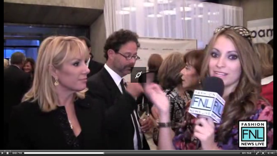 Kristen Colapinto interviews Ramona Singer for Fashion News Live at Pamella Roland