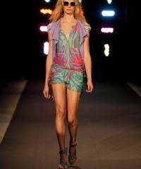 Model walks the runway at Custo Barcelona Fashion Show in New York City