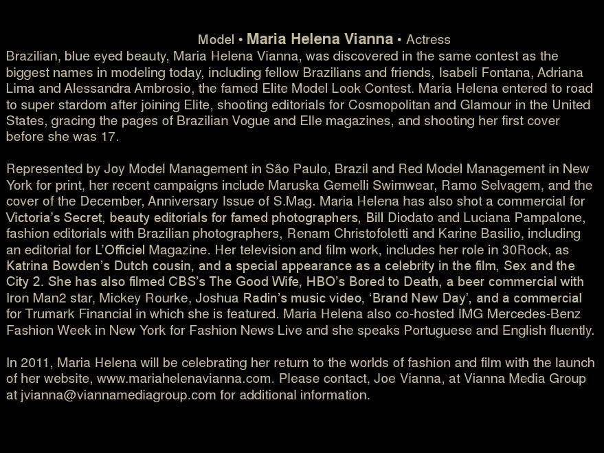 Maria Helena Vianna for Maruska Gemelli