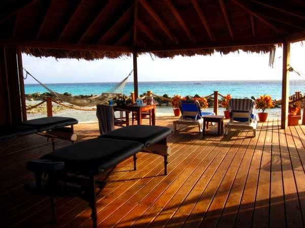 Spa Cove on Aruba's Renaissance Island