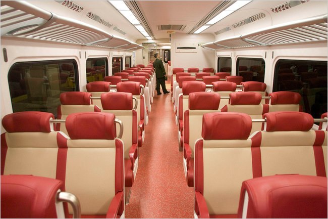 "New Train Seats have ""new train smell."""