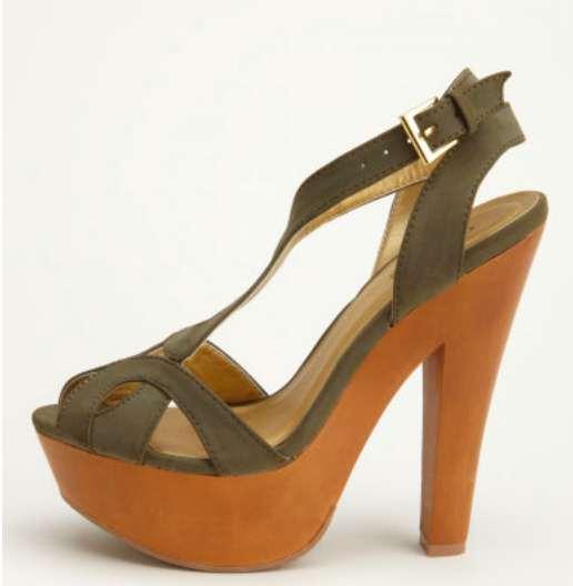Charlotte Russe Wooden Platform Heel