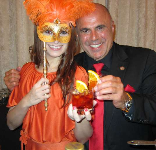 Kristen Colapinto and Tony the Mixologist