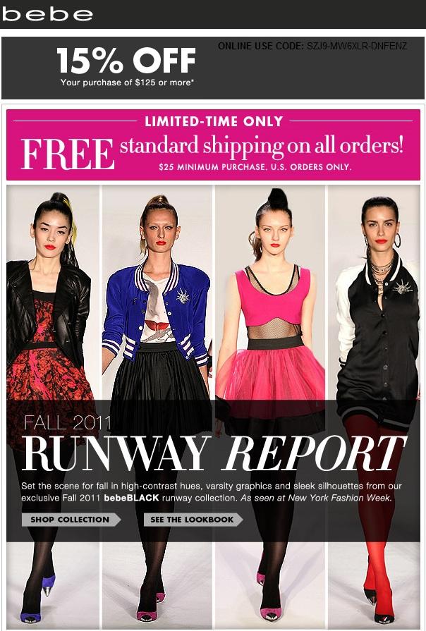 Bebe Runway Report