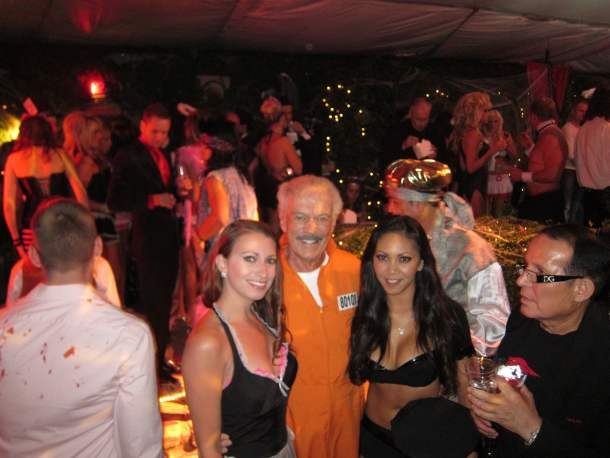Kristen Colapinto Keith Hefner Playboy Mansion Halloween Party 2011