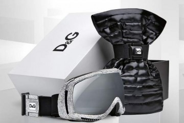 Dolce and Gabana ski mask with swarovski crystals