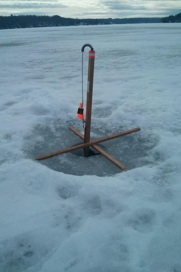 Ice Fishing on Bantam Lake in Connecticut_115112