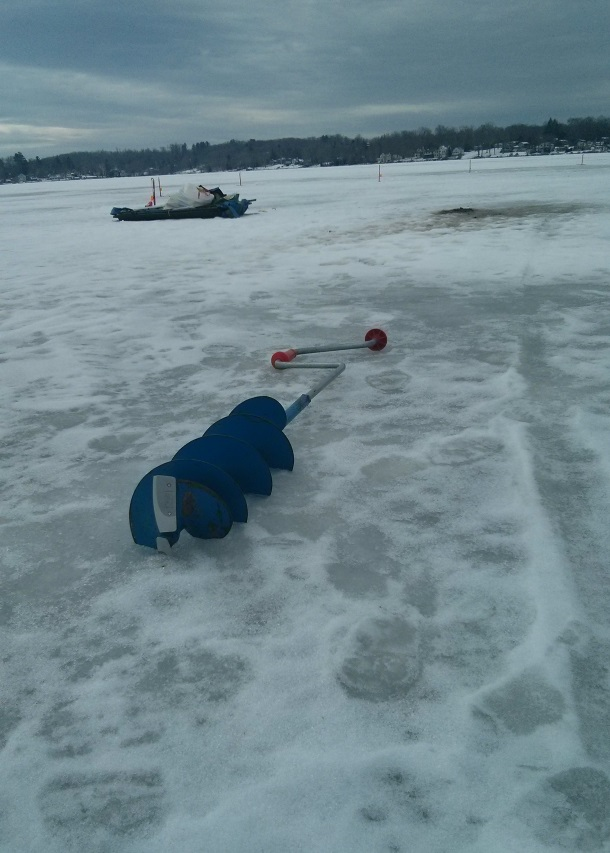 Ice Fishing on Bantam Lake in Connecticut_115209