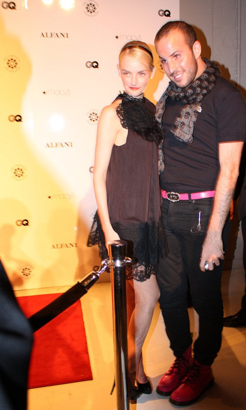 Lytdia Hearst and Micah Jesse at GQ Alfani Party with Ne-Yo