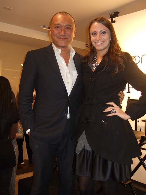 Elle's creative director, Joe Zee and Social Vixen, Kristen Colapinto at Ports 1961 Spring 2010 Preview