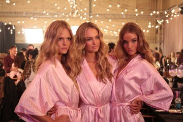 Backstage at the 2009 Victoria's Secret Fashion Show in New York City. Photo Credit: Kristen Colapinto