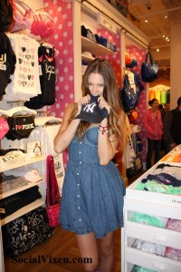 Behati Prinsloo at PINK Store in NYC