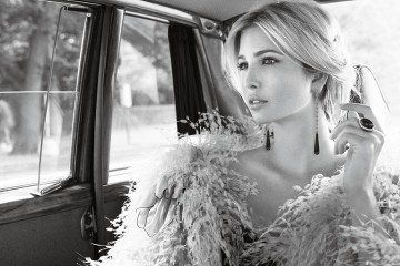 Ivanka Trump in limo