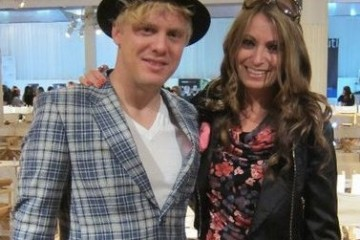 Neon Tree's Christopher Cordley Allen and Kristen Colapinto during New York Fashion Week