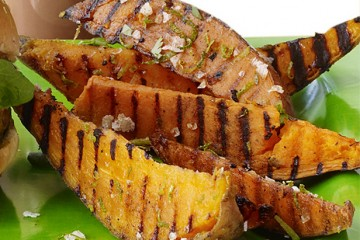 Grilled Sweet Potatoes with Lime and Cilantro