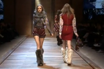 Models on the runway at D&G fashion show Fall/winter 2011