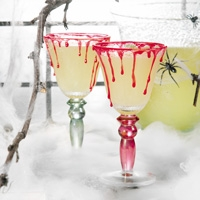 Lime Chillers With Blood Drippings -Spooky cocktail recipes for Halloween