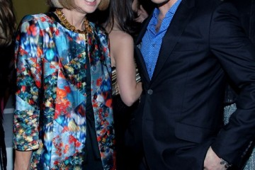 Anna Wintour and Ed Westwick at Vogue Cocktail Party to Honor London's Emerging Designers