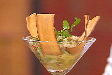Lobster Ceviche with Yucca Chips