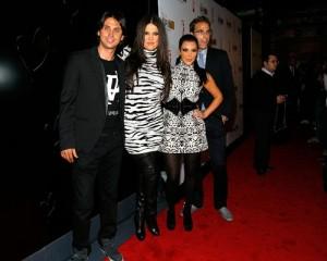 Jonathan Cheban, Kim Kardashian, Kourtney Kardashian, and Khloe Kardashian attend Spin Crowd's Season Finale Party