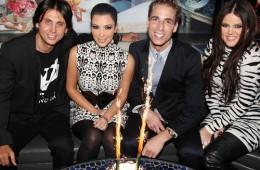 Jonathan Cheban, Kim Kardashian, Simon Huck, and Khloe Kardashian attend Spin Crowd's Season Finale Party
