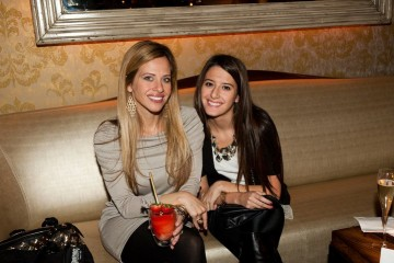 Dina Mazo and daughter at RichRocks Launch Party at Hurricane Club in New York City