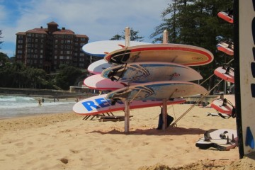 Surf Boards on Manly Beach in Australia