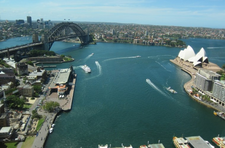 View of the Syndey Harbor in Australia