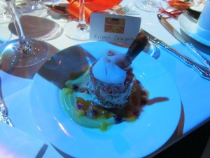 Appetizer at Georges Duboeuf 2010 Beaujolais Nouveau Cirque Celebration with Molly Sims