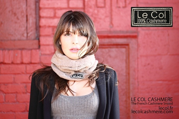 Model in Le Col Cashmere Scarf