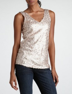 Sequin Mesh Tank from Charlotte Russe