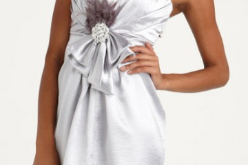 Silver dress with sweetheart neckline from Charlotte Russe