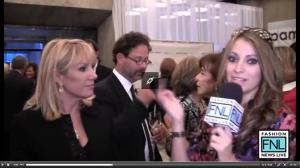Kristen-Colapinto interviews Ramona Singer during Mercedes-Benz Fashion Week Spring 2011