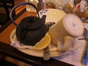Hot tea from Legal Seafood in White Plains, NY