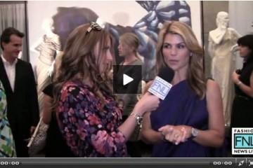 Kristen-Colapinto interviews Lori Laughlin during Mercedes-Benz Fashion Week Spring 2011