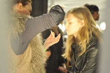 Model Backstage at Custo Barcelona Fall 2011