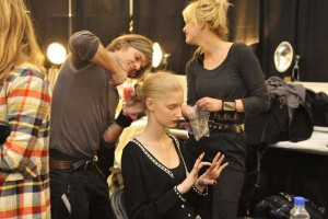 Backstage at Custo Barcelona Fall 2011