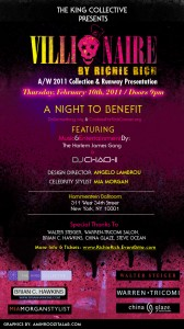 Richie Rich's 'Villionaire' Fashion Show Invite