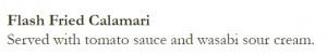 Fried Calamari Appetizer at 'Top of the World' Restaurant in Las Vegas