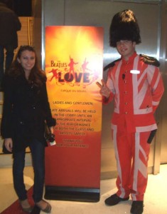 Kristen Colapinto in Vegas at The Beatles LOVE, Cirque du Soleil at the Mirage