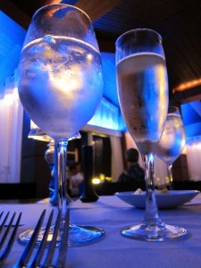 Sparkling wine at L.G. Smith's Steak & Chophouse