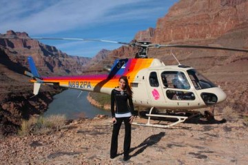 Kristen Colapinto in the grand canyon during the 'Grand Canyon Helicopter Tour' in Las Vegas.