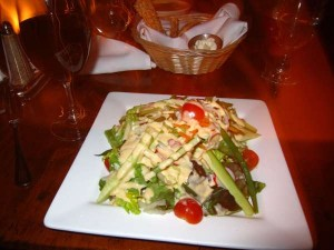 House salad from Beekman Arms Inn in Connecticut