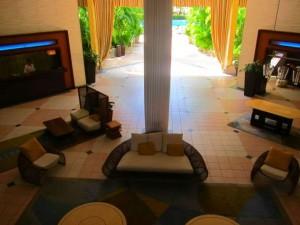 Lobby of the Renaissance Resort and Casino in Oranjestad, Aruba