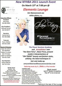 "Alexa Prisco the ""Glam Fairy"" Promotional Flyer for event at Elements in White Plains."