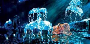 Scene form Cirque Du Soleil Show 'LOVE' by the Beatles in Las Vegas