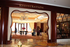 Picute of the lobby at the 'Encore at the Wynn' Hotel in Las Vegas